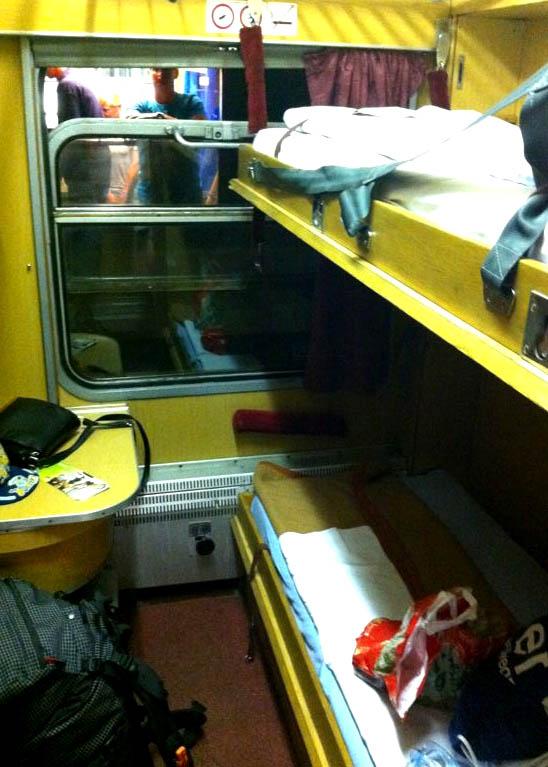 Our Night Train Cabin