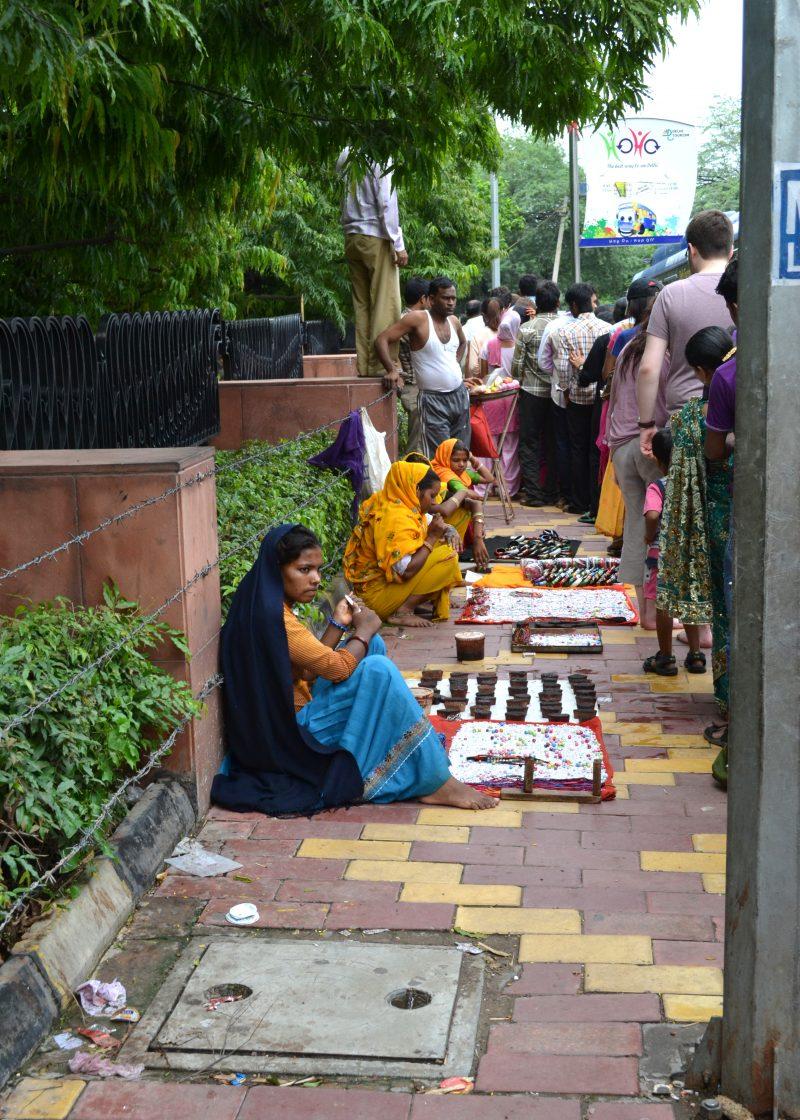 Women in the street selling