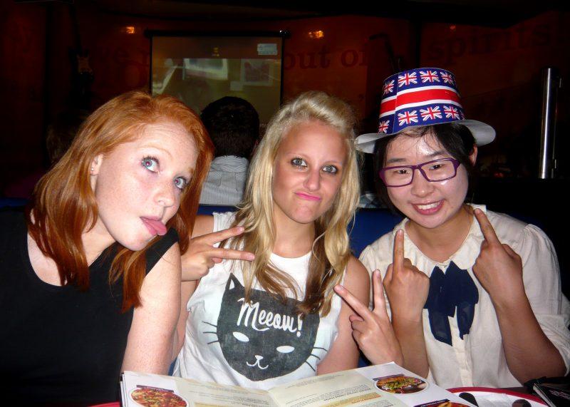 Lydia, Nancy & I celebrating