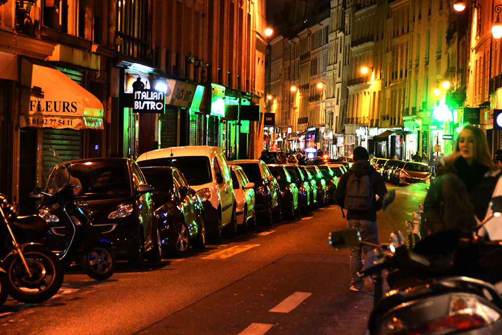 Paris Streets at night