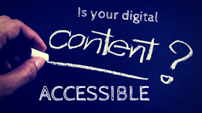 """Is your digital content accessible?"" written on a chalk board"