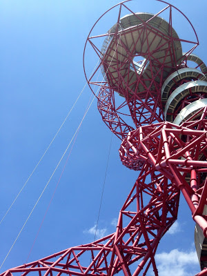 View from the base of the ArcelorMittal Orbit