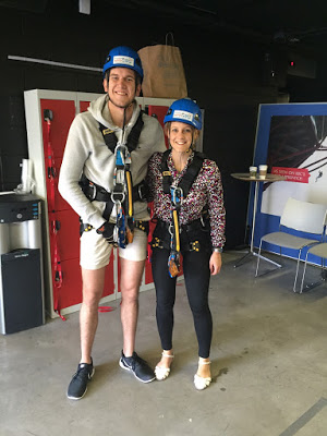 Lee and I with all our abseil gear on