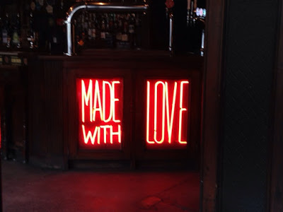"""Made with Love"" neon sign"