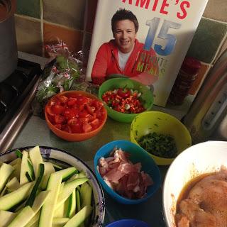 Ingredients for Jamie's Cajun Chicken meal