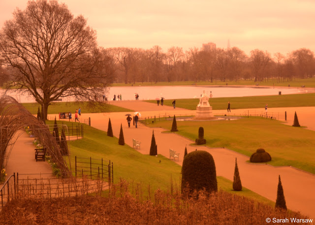 View out of a window at Kensington Palace
