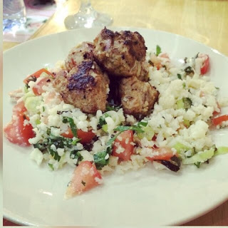 Meatballs and Cauliflower tabbouleh