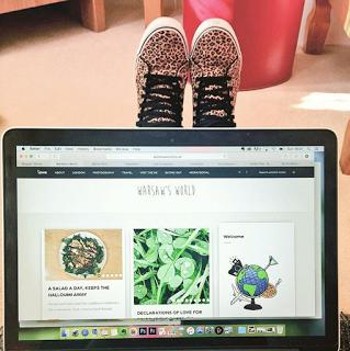 Laptop showing my blog