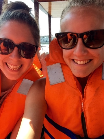 Rach and I in our lifejackets