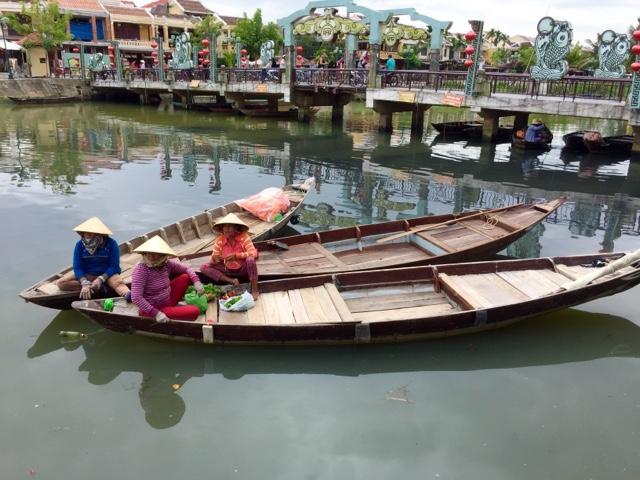 Ladies on boats