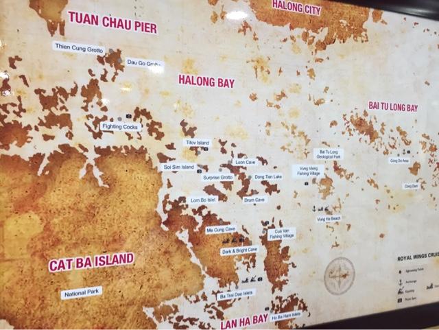 Map of Halong Bay