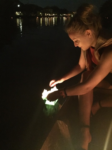 Putting my lantern in the water