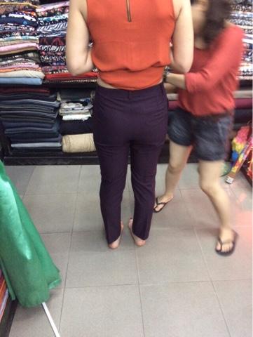 my new purple trousers