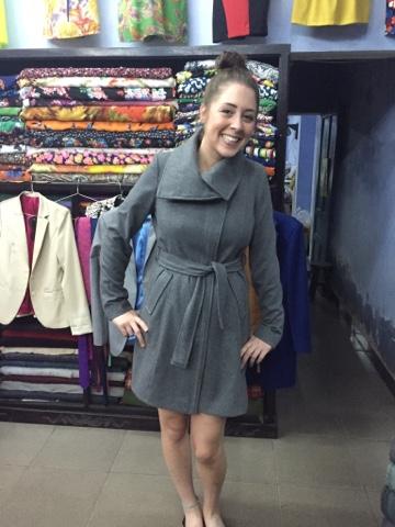 Rach in her new coat