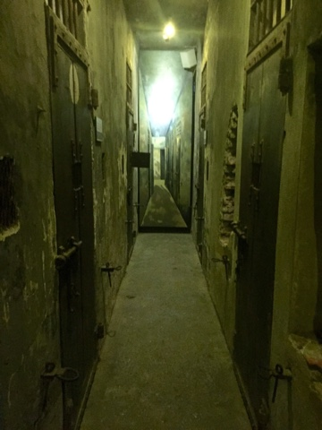 Spooky corridors inside the prison