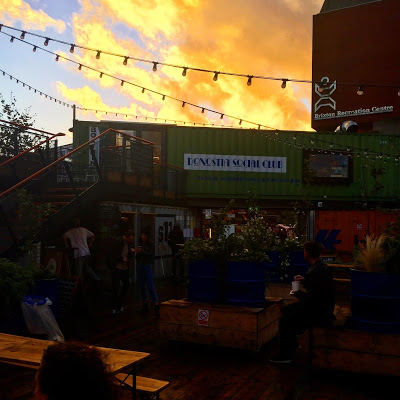 Pop Brixton in the sunset