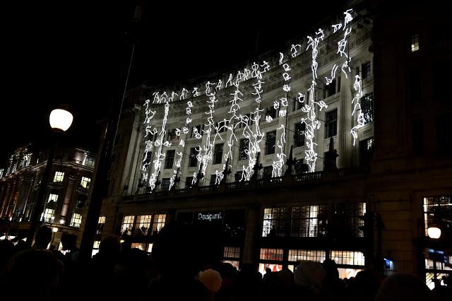 Light acrobatics on a building