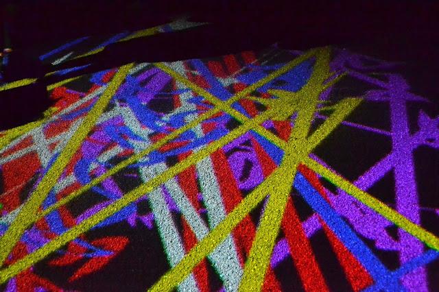 Colour lights on the floor