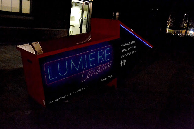 Sign for Lumiere London