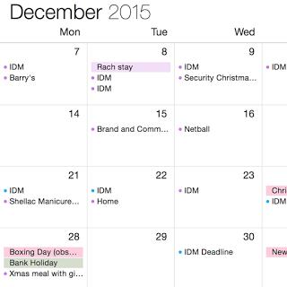 Calendar planning work