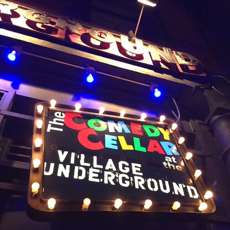 comedy cellar sign