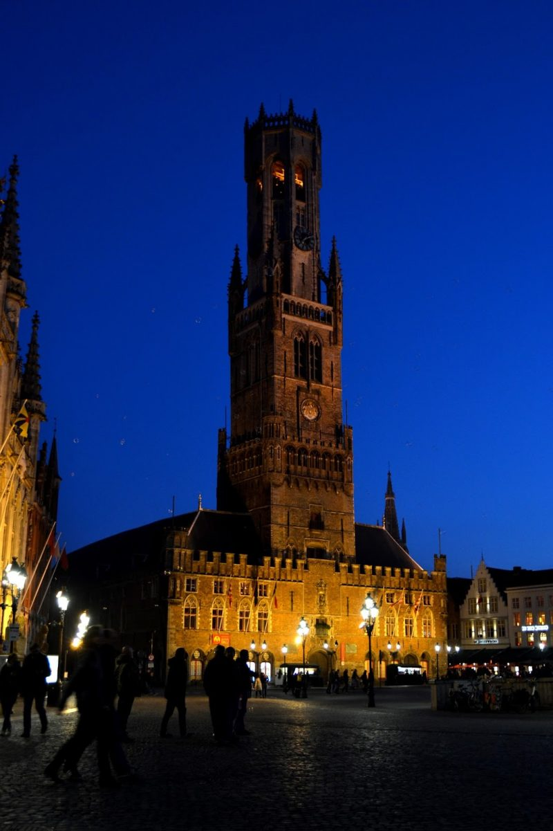 belfry tower in the evening