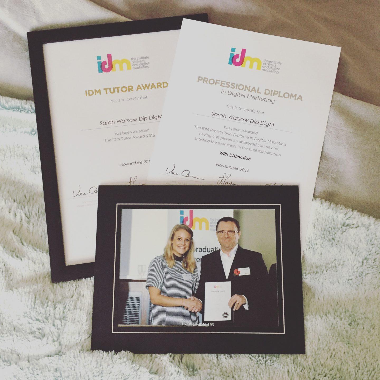 IDM Certificate