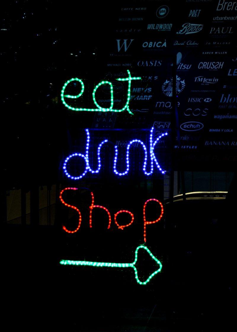 Eat Drink Shop sign