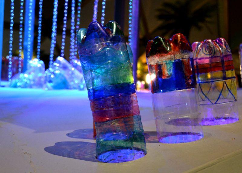 lights made from bottles