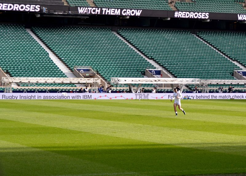 Jonny May & the IBM Try Tracker signage
