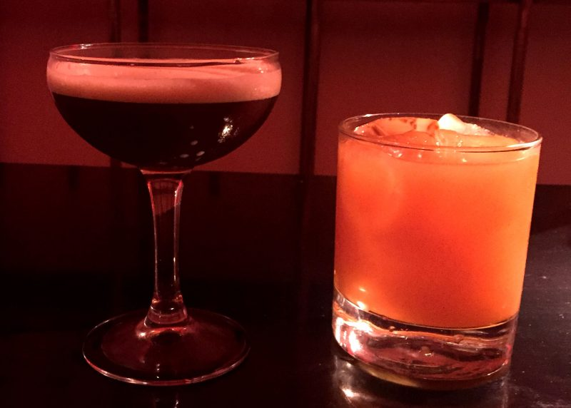 Whisky Cocktails & an espresso Martini