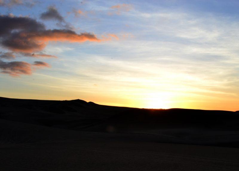 Sunset on the Desert in Ica