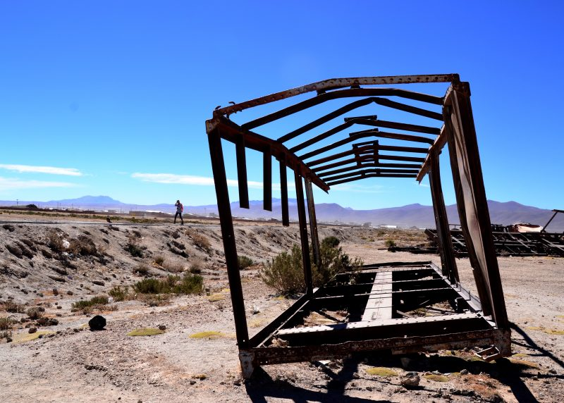 Train Graveyard in the Bolivian Salt Flats