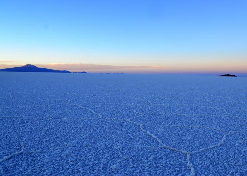 Salt Flats at Sunset