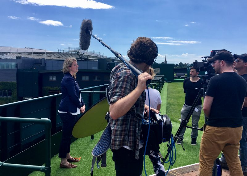 Filming at Wimbledon