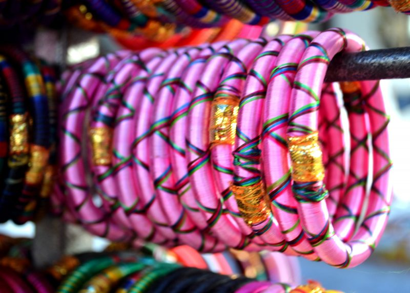 Colourful bangles at Dilli Haat