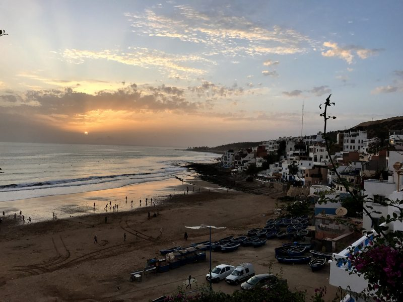 Sunset over Taghazout
