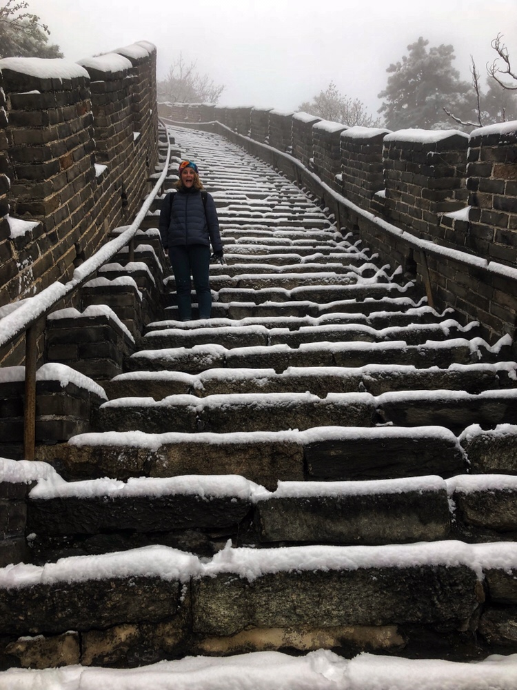 Me on the Great Wall in the snow