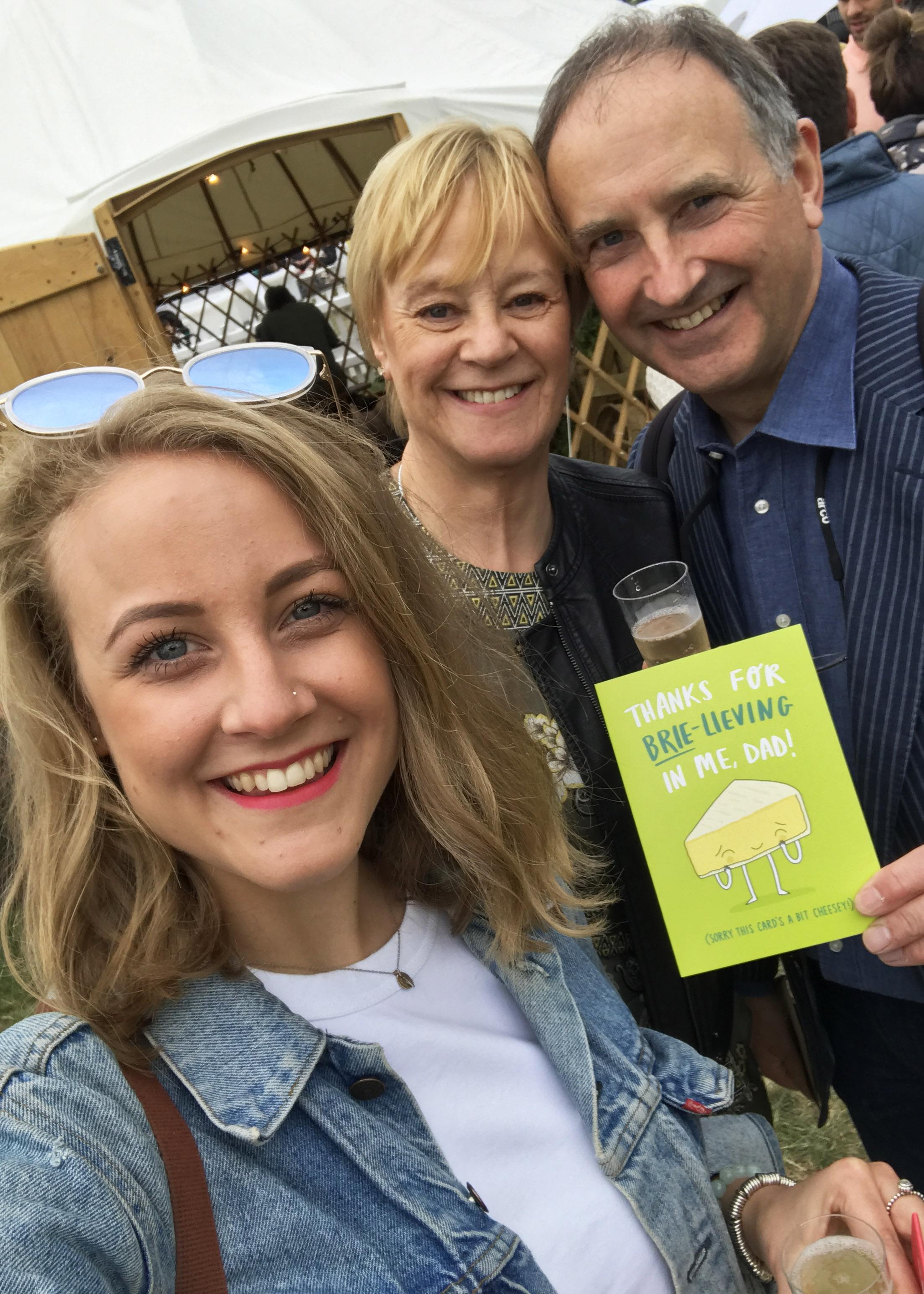 with mum& dad