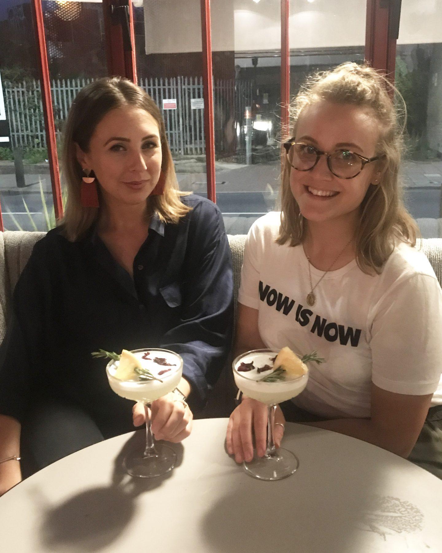 Lauren & I with cocktails
