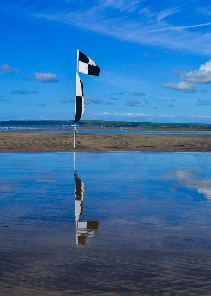 Coastguard Flag on the Beach