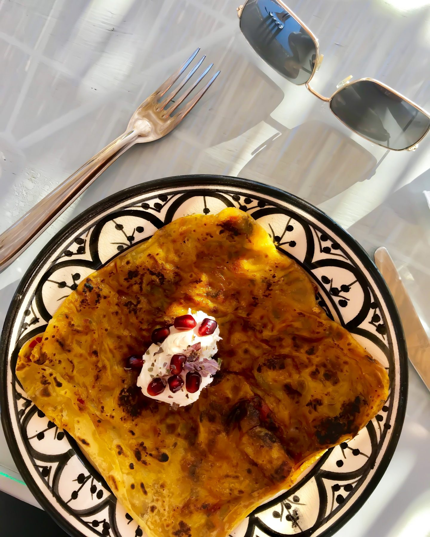 Rghaif Pancake served with cheese