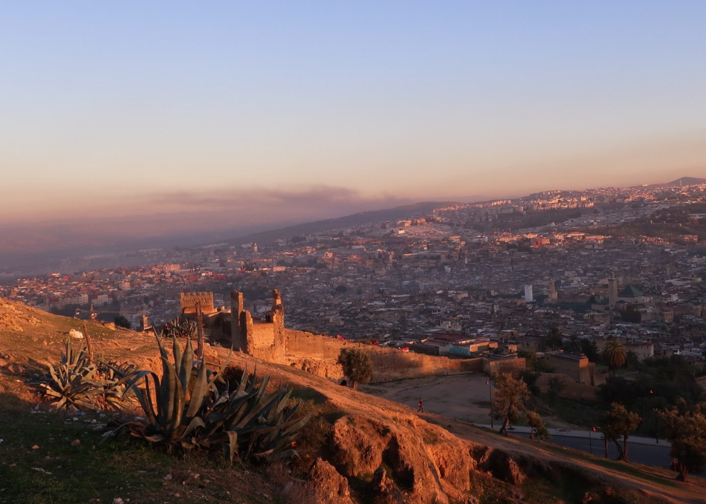 sunset view over Fez, guide to Fez