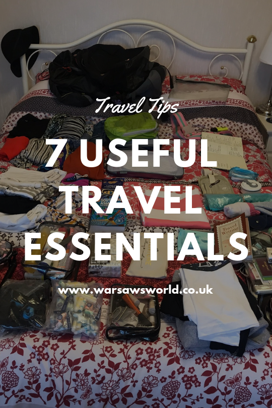 useful travel essentials, Pinterest graphic