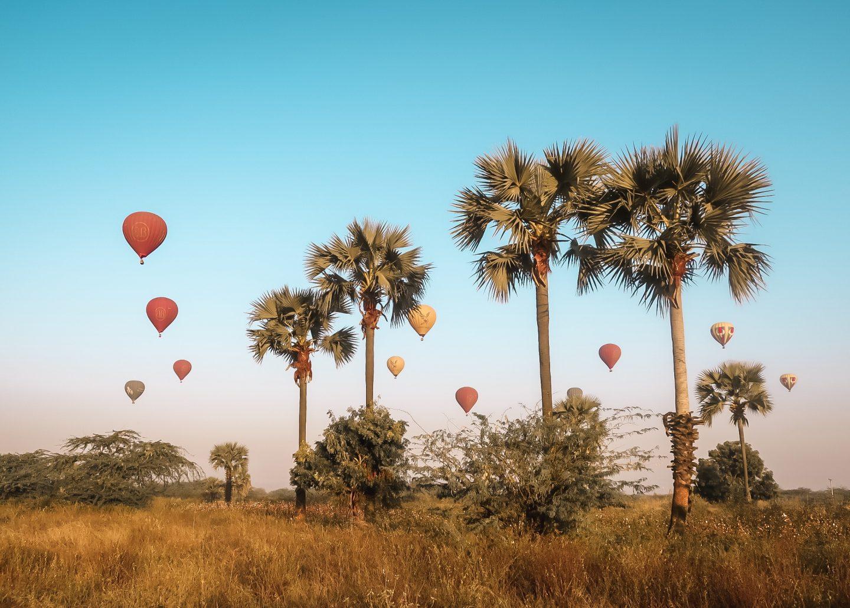 Balloons in Bagan