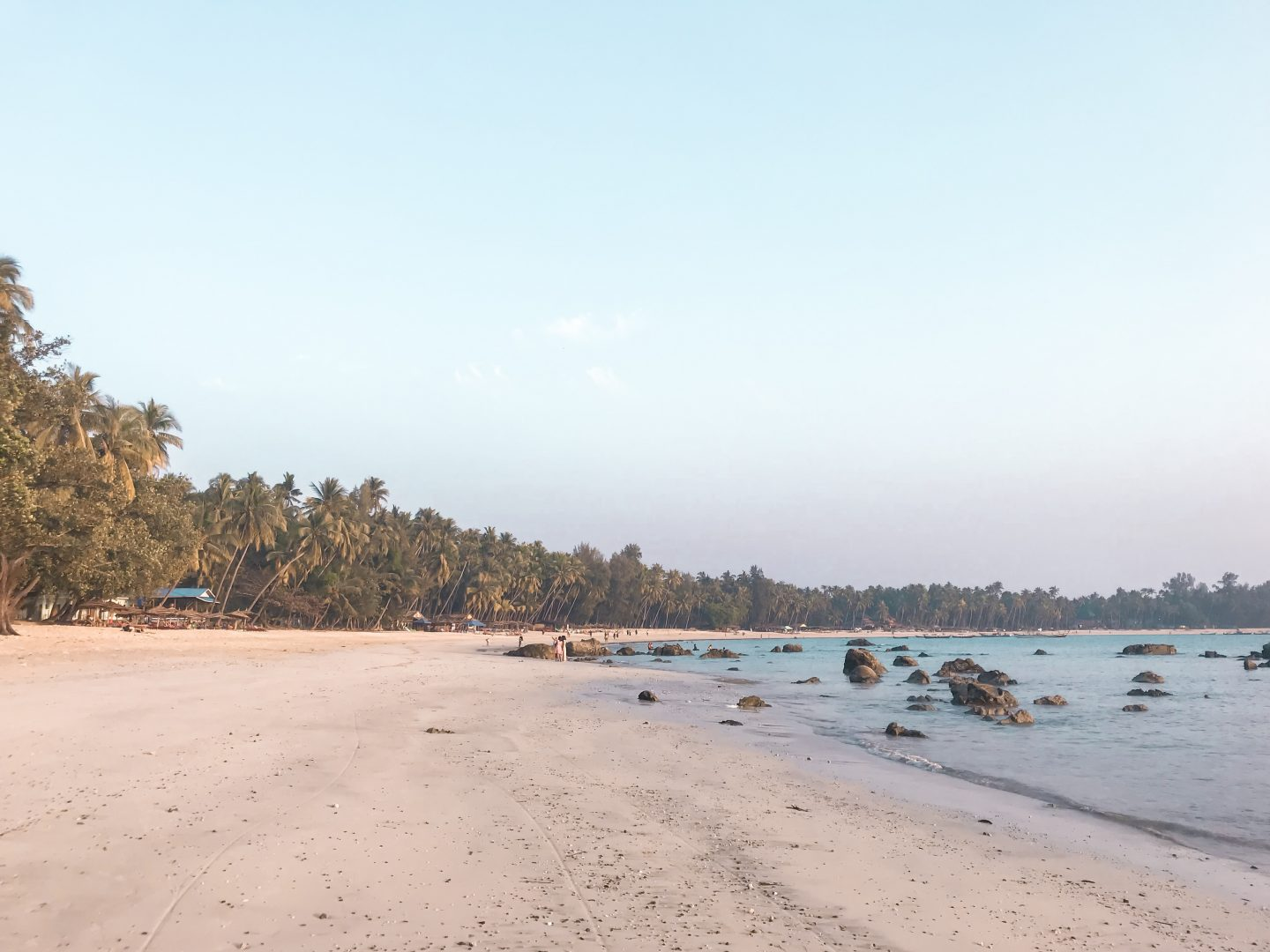 Ngapali Beach in the daytime