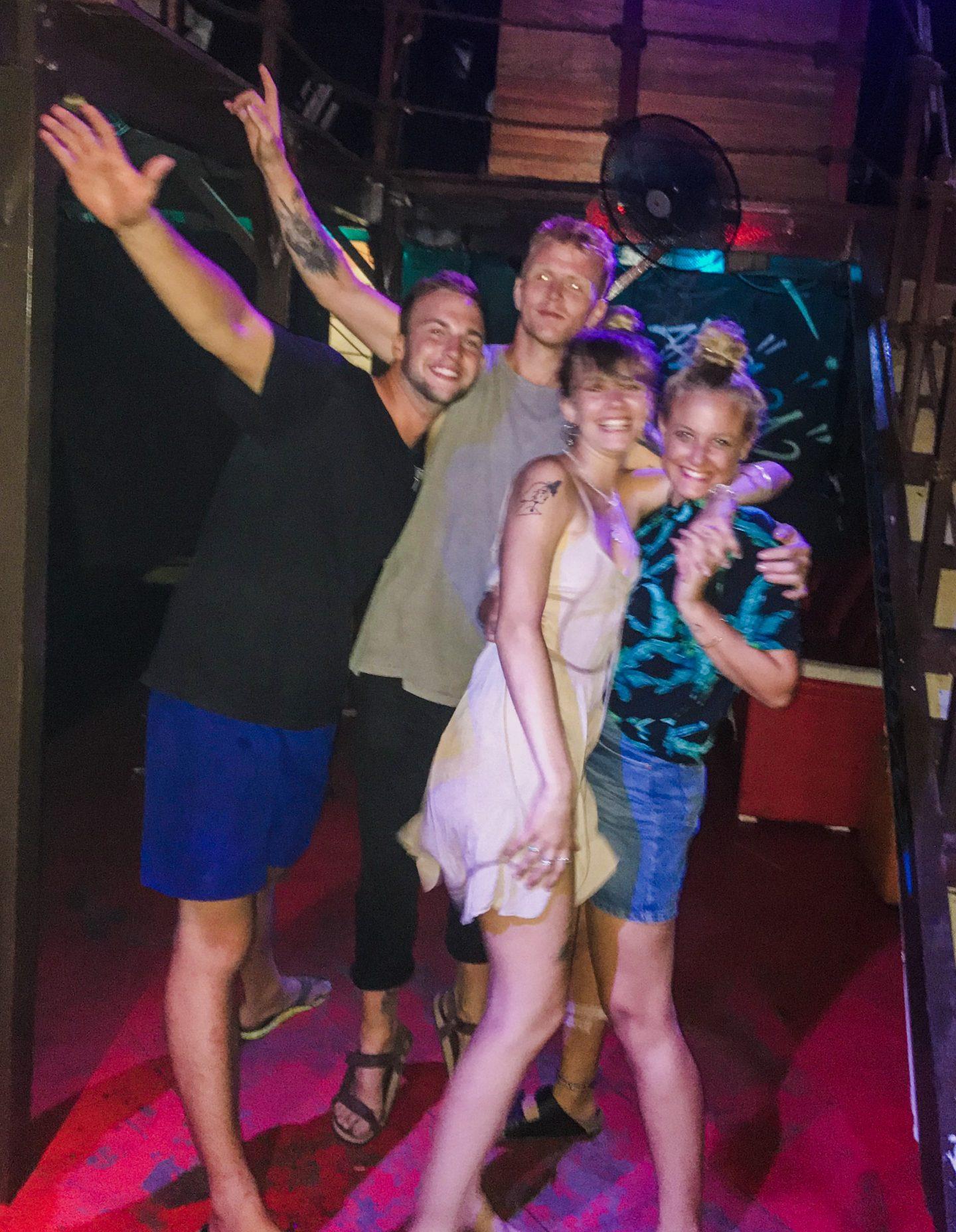 Emma, George, Thijs and I