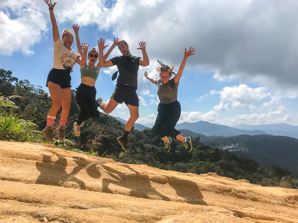 All of us jumping with a view