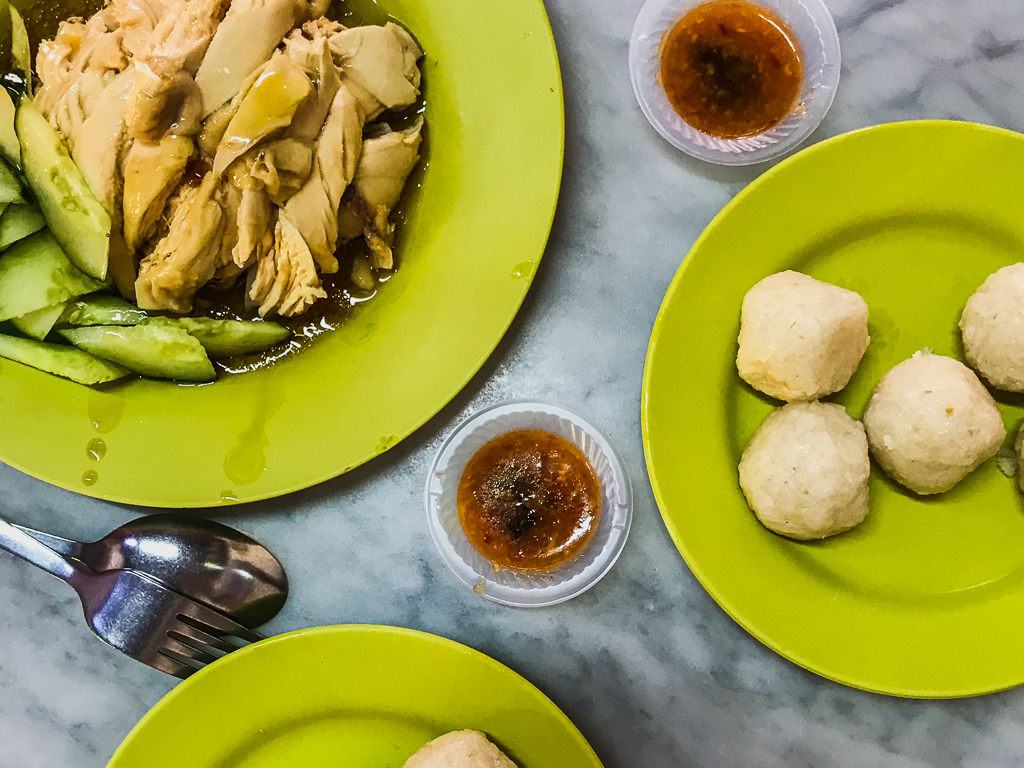 Things to do Melaka: Chicken and rice balls