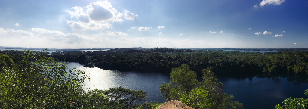 Pulau Ubin: View of one of the quarries